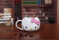 Cute Hello Kitty Ceramic Cup Tea Milk Coffee Mug Pink Bowknot Lovely Girl Gift
