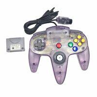 Nintendo 64 N64 (NUS-005) Atomic Purple Controller & Controller Pak (NUS-004)