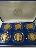 NATIONAL COLLECTOR'S MINT $5 24K GOLD PLATED  6 coin TRIBUTE PROOF COLLECTION