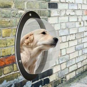 Dog Fence Window Dome Insert Clear Outside Landscape For Cat Peek Pet Z4S3