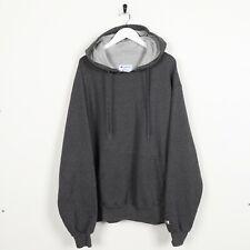 Vintage CHAMPION Sleeve C Logo Hoodie Sweatshirt Grey | Large L