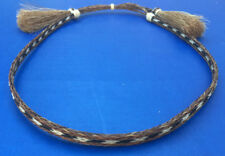 Western Cowboy/Cowgirl Horsehair Hat Band Black/Brown/White