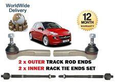 Pour vauxhall opel adam 1.2 1.4 2012 - > 2x extérieur + 2x inner tie track rack rod end