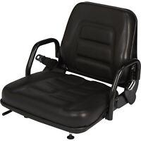 Concentric Universal Fold-Down Fork Lift Seat - Black, Model# 355102BK03