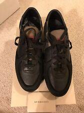 New Authentic Burberry Men Black Lowtop sneakers Shoes Logo Nova Check 40 7 $590