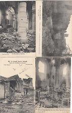 Lot 4 cartes postales anciennes GUERRE 14-18 WW1 MARNE SAINT-HILAIRE-LE-GRAND 2