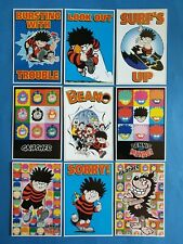Set of 9 Official Beano Dennis the Menace Postcards Gnasher (series 2)