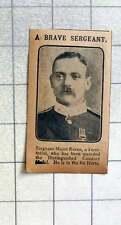 1915 Brave Sergeant Major Raven, Territorial, Dcm 1st Herts