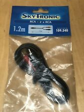 SKY TRONIC RCA PHONO PLUG  TO 2 X RCA PHONO PLUGS 1.2M BRAND NEW SEALED