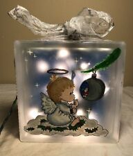Pittsburgh Corning Christmas Glass Block Lighted Angel