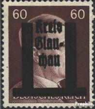 Glauchau (Sachsen) 17 mit Falz 1945 Lokaler Überdruck