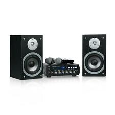 Karaoke Bluetooth Impianto Stereo Microfoni Casse Altoparlanti USB 2x75W