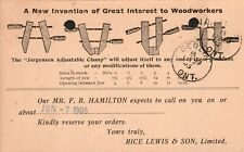 "Canada Postal Stationary ""Rice Lewis Tools"" Toronto ON- Berlin ON Postmark-1905"