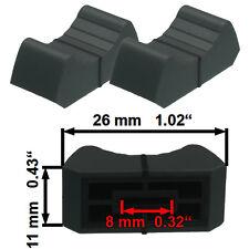 NEU 2 Prof Faderknopf GRAU 8mm Fadercaps Faderkappen Caps Mischpulte Mixer