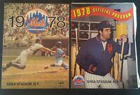 1978 NEW YORK METS YEARBOOK and PROGRAM LOT SHEA TORRE KRANEPOOL KOOSMAN MAYS