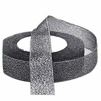 22 Metres 25mm Double Sided Satin Glitter Ribbons Bling Bows Reels Wedding P1W3
