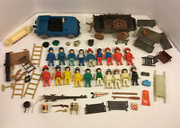 Mixed Lot Vintage Playmobil Figures Vehicles Accessories 1974 Geobra