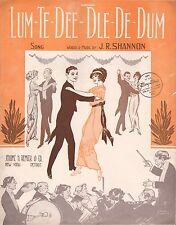DANCE CRAZE sheet music LUM-TE-DEE-DLE-DE-DUM art deco dancers 1913