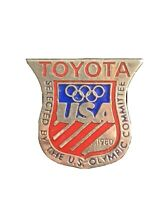 Vintage 1980 Olympic Pin USA Commemorative Collectible Toyota Souvenir