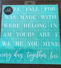 Chalk Couture Transfer, We Belong Together, RETIRED