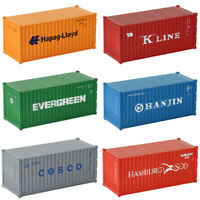 6pcs HO Scale 20ft Container 1:87 Shipping Container Different Freight Car Lot