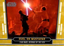 Star Wars 40th Anniversary Gold Parallel Card #52 Dual On Mustafar, Topps