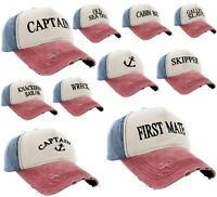 Men Women Boating Hat Baseball Cap Captain,Skipper,Wreck,Pirate,Drunk Sailor
