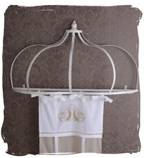 Canopy holder metal wall bed crowning vintage white antique style shabby chic