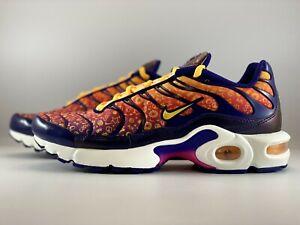 Nike Air Max Plus Running Shoes Size 6Y (Women 7.5) Purple Orange CI9932-500
