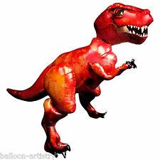 "61 ""rouge Tyrannosaure T-Rex Dinosaure children's party Airwalker foil balloon"