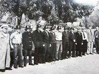 Vintage Riverside CA Fire Department Truck Group Photo Original 1950's