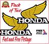 Honda Wings Set of 2 Left & Right Yellow Retro Vintage Vinyl Sticker Tank Decal
