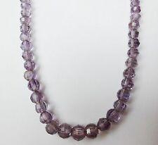 Edelsteinkette Amethyst Collier 60cm Halskette 6-10mm facett. Kugeln - True Gems