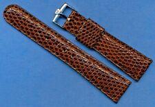 NOS Vintage Breitling Boucle & Marron Lézard MB Sangle 19mm Cuir Doublé 815