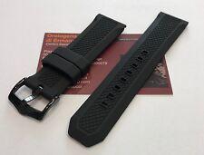 Cinturino gomma nero Bulova ref. 98C112 24mm originale