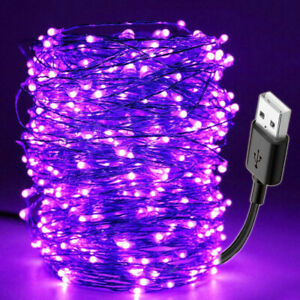 DIY Waterproof Bar Lamp 10M 100LED USB US Ultraviolet Strip Light Flexible