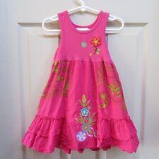 Toddler girl 2T minni maggie cotton sleeveless summer dress pink print