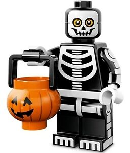 LEGO Minifigures Series 14 Monsters halloween Skeleton Guy + pumpkin