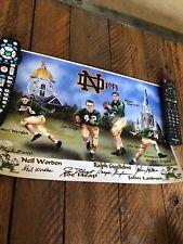 1953 Notre Dame Greats Autographed Poster! JSA.Lattner,Heap,Worden,Gugliemi.