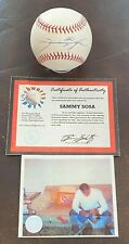 SAMMY SOSA Autographed Signed baseball ball Chicago Cubs Mounted Memories MM