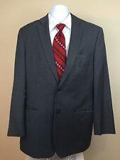 Black Label John Varvatos Sports Coat Pinstriped Worsted Wool 42 Long