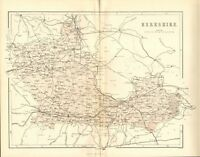 original 1868 colour map of the county of berkshire