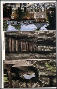 1938 Stempel Bad Schandau Kuhstall Mehrbildkarte Himmelsleiter Berggasthaus u.a.