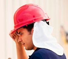 New USA Made Helmet Hard Hat White Cotton Cloth Neck Shield Sun Heat Protection
