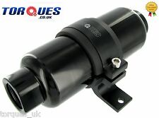 AN -12 (JIC -12 ORB-12) Black Anodised Billet Fuel Filter 30 Micron And Cradle