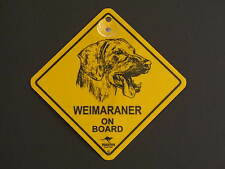 Weimaraner On Board Dog Breed Yellow Car Swing Sign Gift