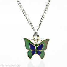 Butterfly Mood Colour Changing Pendant Necklace in Gift Box