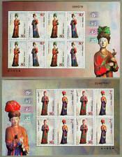 China 2003-15 Painted Clay Figure Jin Temple Mini Sheet
