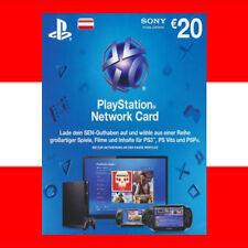 SONY PSN Playstation Network Card Key 20€ EUR 20 Euro PS3 PS4 PSP - AT