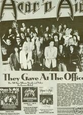 HEAR 'N AID They Gave At Office 1986 PROMO POSTER AD